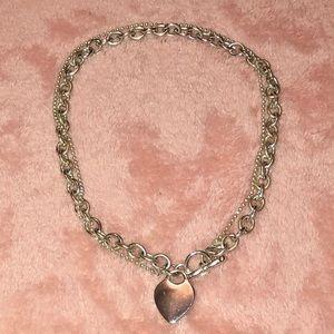 Aeropostale Heart Choker Necklace